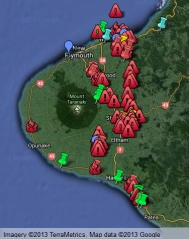 Taranaki Oil and Gas Sites