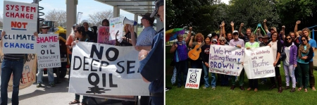 oil gas expo protest combined2 22Oct2014