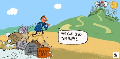 ETS cartoon_eu_and_paris_agreement_with_wwf_logo